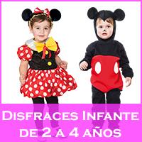 Disfraces para infantes de 2 a 4 años