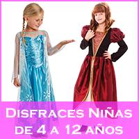 Disfraces para niñas de 4 a 12 años