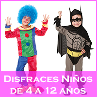 Disfraces para niños de 4 a 12 años